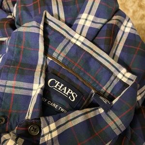 Chaps blue and white loose fitted flannel